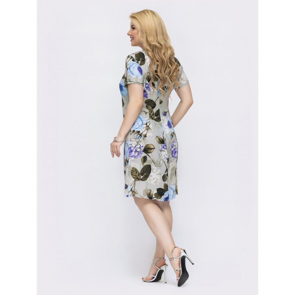 Замечательное платье в цветочный принт Людмила фото 2