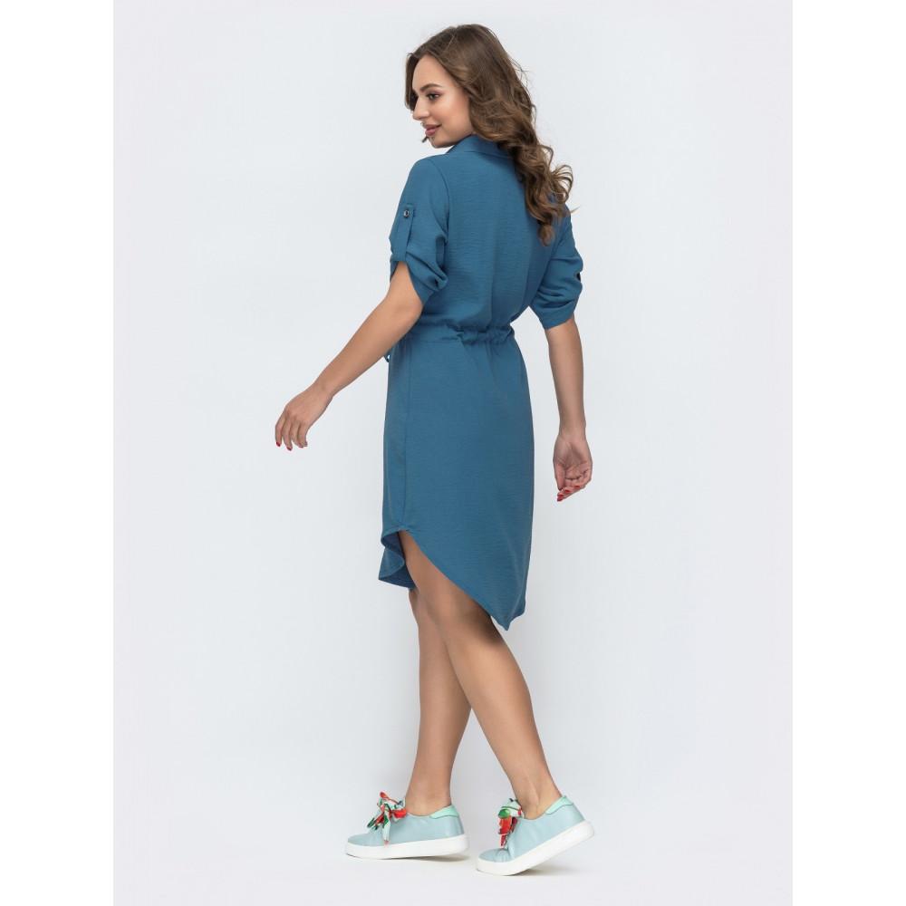 Голубое платье-рубашка Тора фото 2