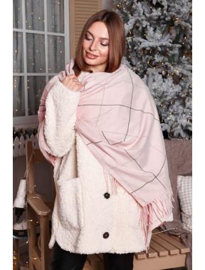 Теплый розовый палантин Франс