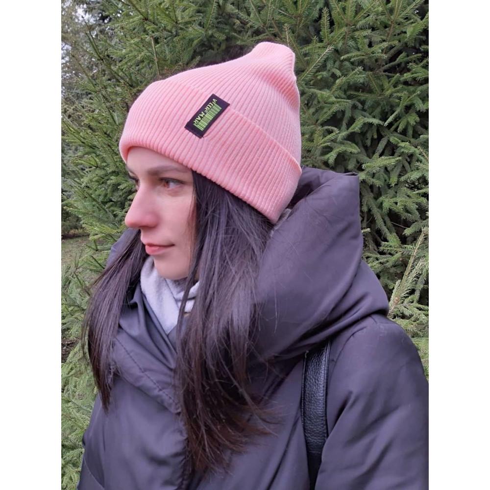 Женская розовая шапка Прага фото 1