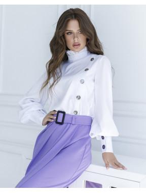 Біла блуза з гудзиками