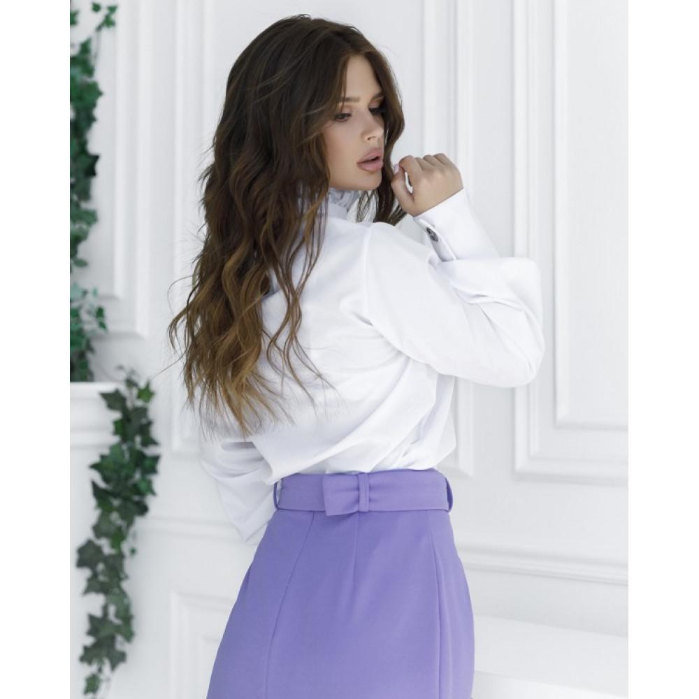Белая блузка с пуговицами фото 3