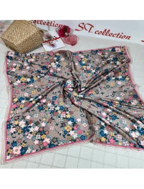 Нежный атласный платок Louis Vuitton