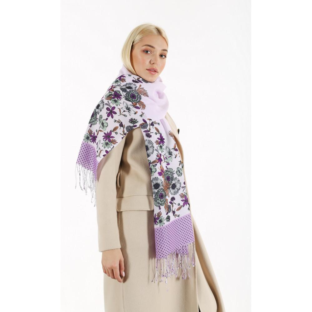 Женский шарф с цветочным принтом фото 1