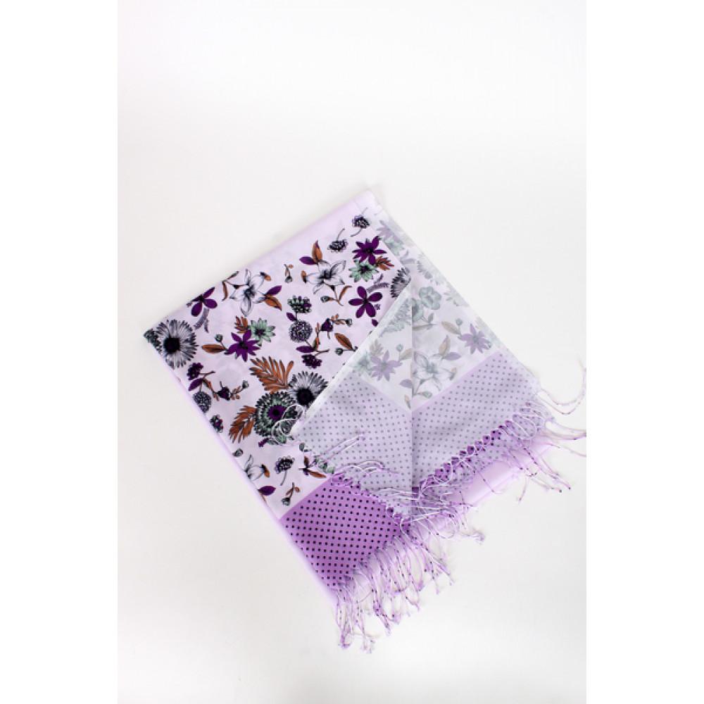 Женский шарф с цветочным принтом фото 2
