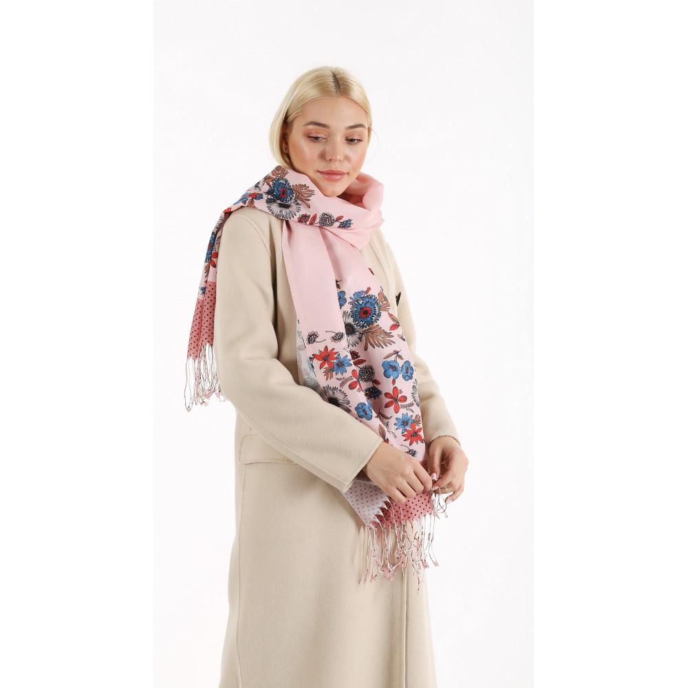 Милый пудровый шарф   фото 1