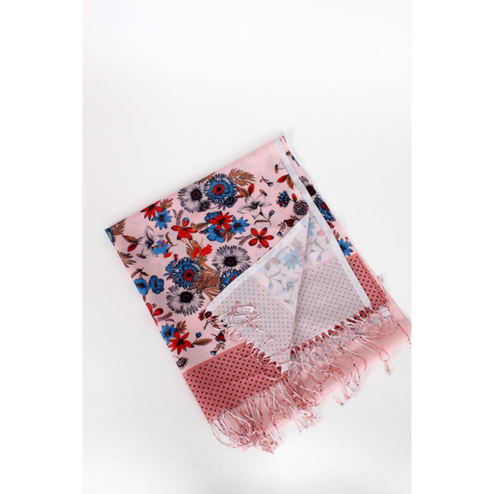 Милый пудровый шарф   фото 2