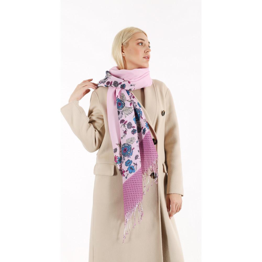 Женский розовый шарф Вирджиния  фото 1