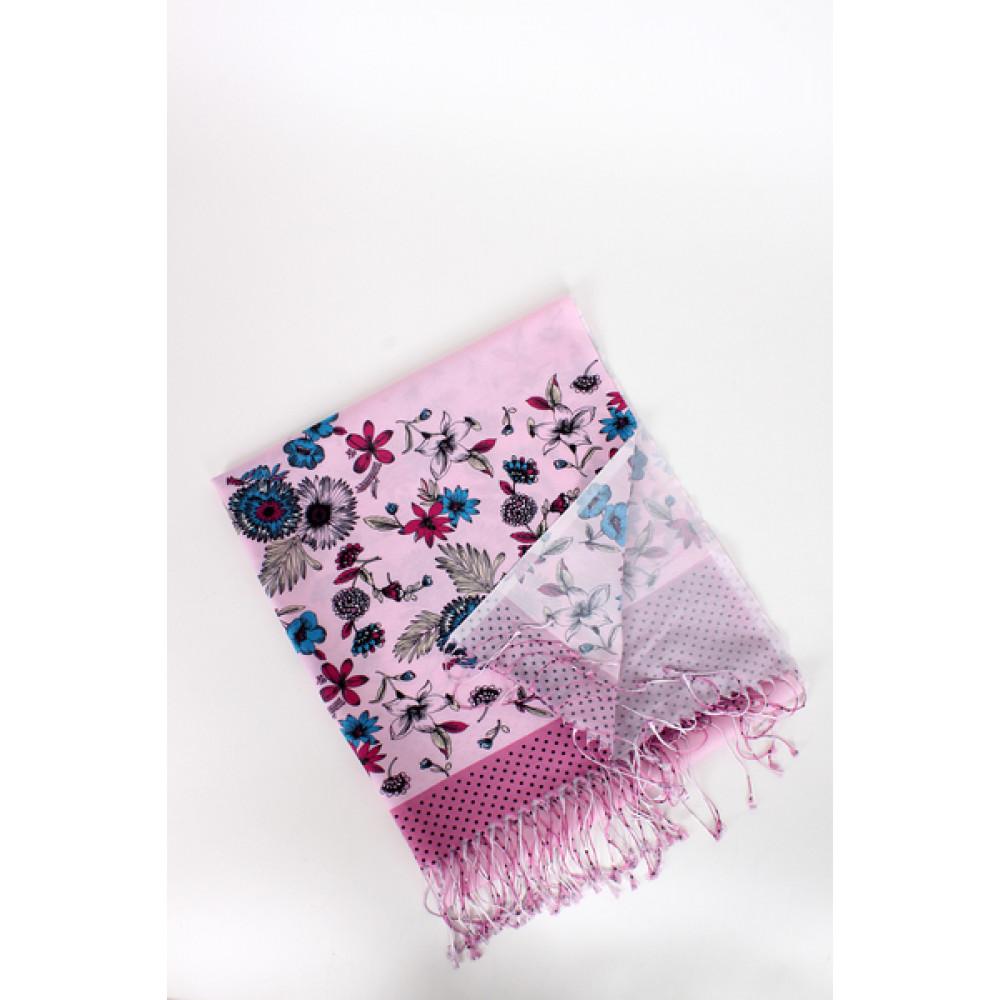 Женский розовый шарф Вирджиния  фото 2