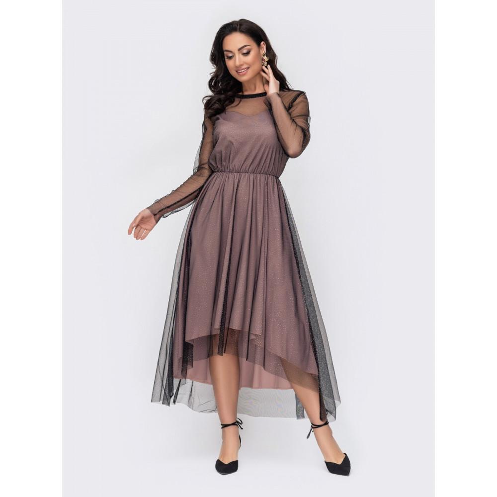 Вечернее платье из фатина Лурдес фото 1