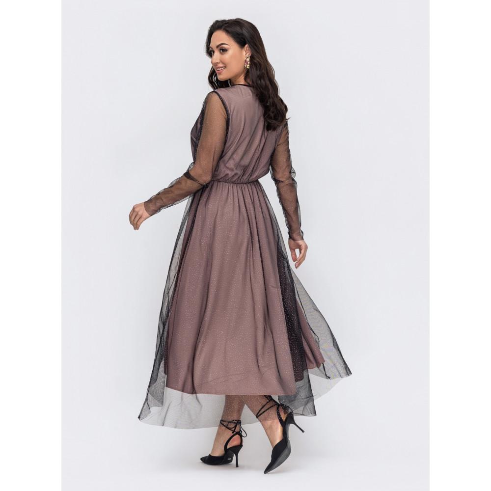 Вечернее платье из фатина Лурдес фото 2