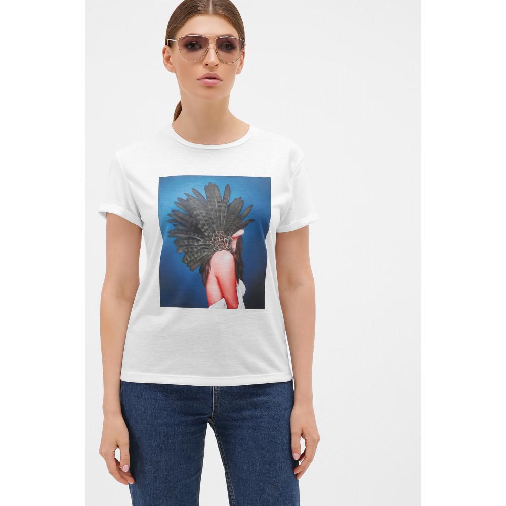 Базовая футболка с принтом Перья фото 1