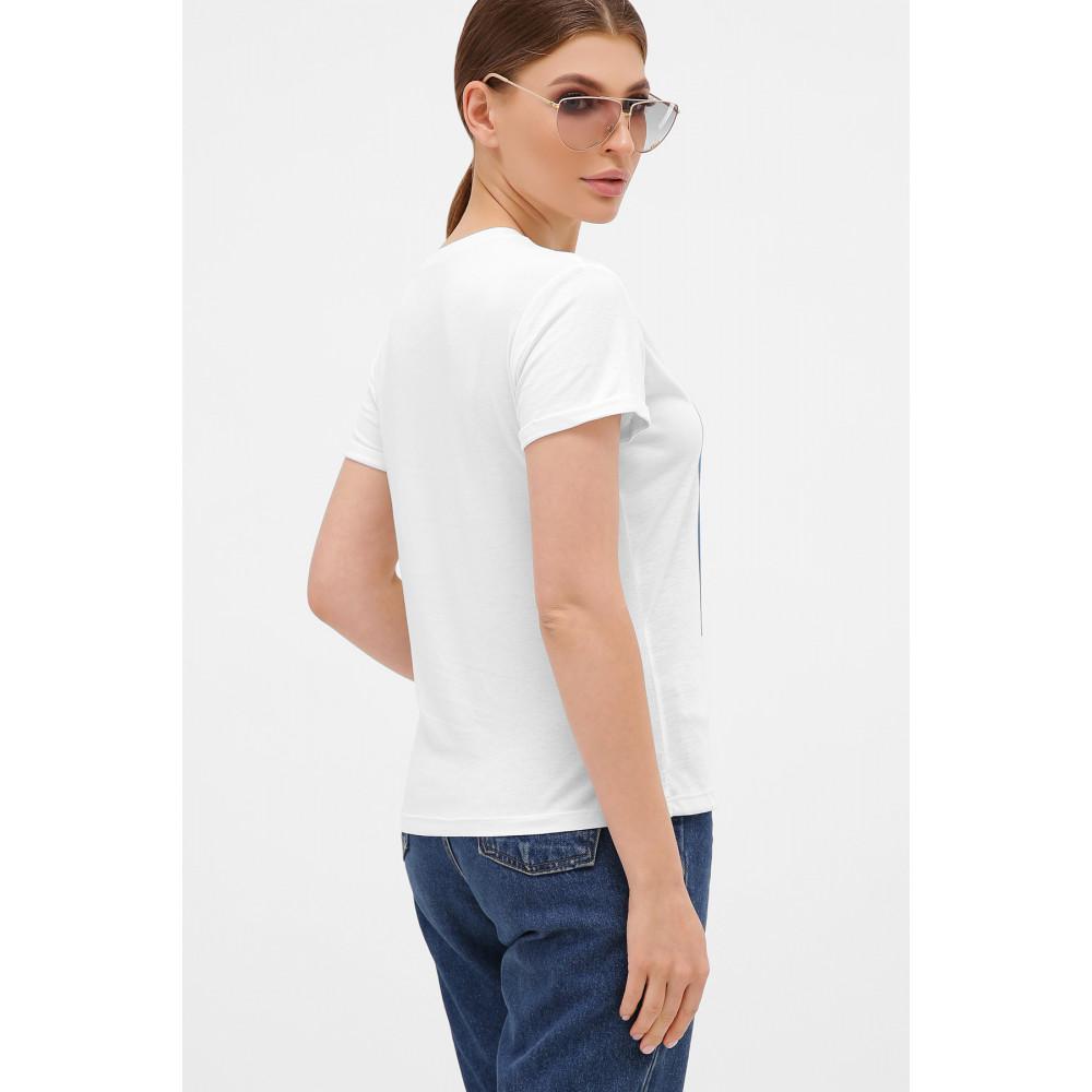 Базовая футболка с принтом Перья фото 2