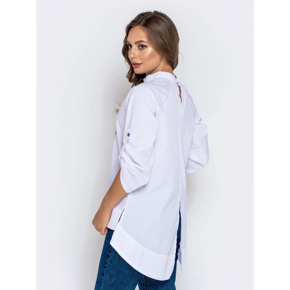 Белая рубашка с вышивкой фото 2