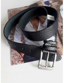 Мужской черный ремень в стиле кэжуал