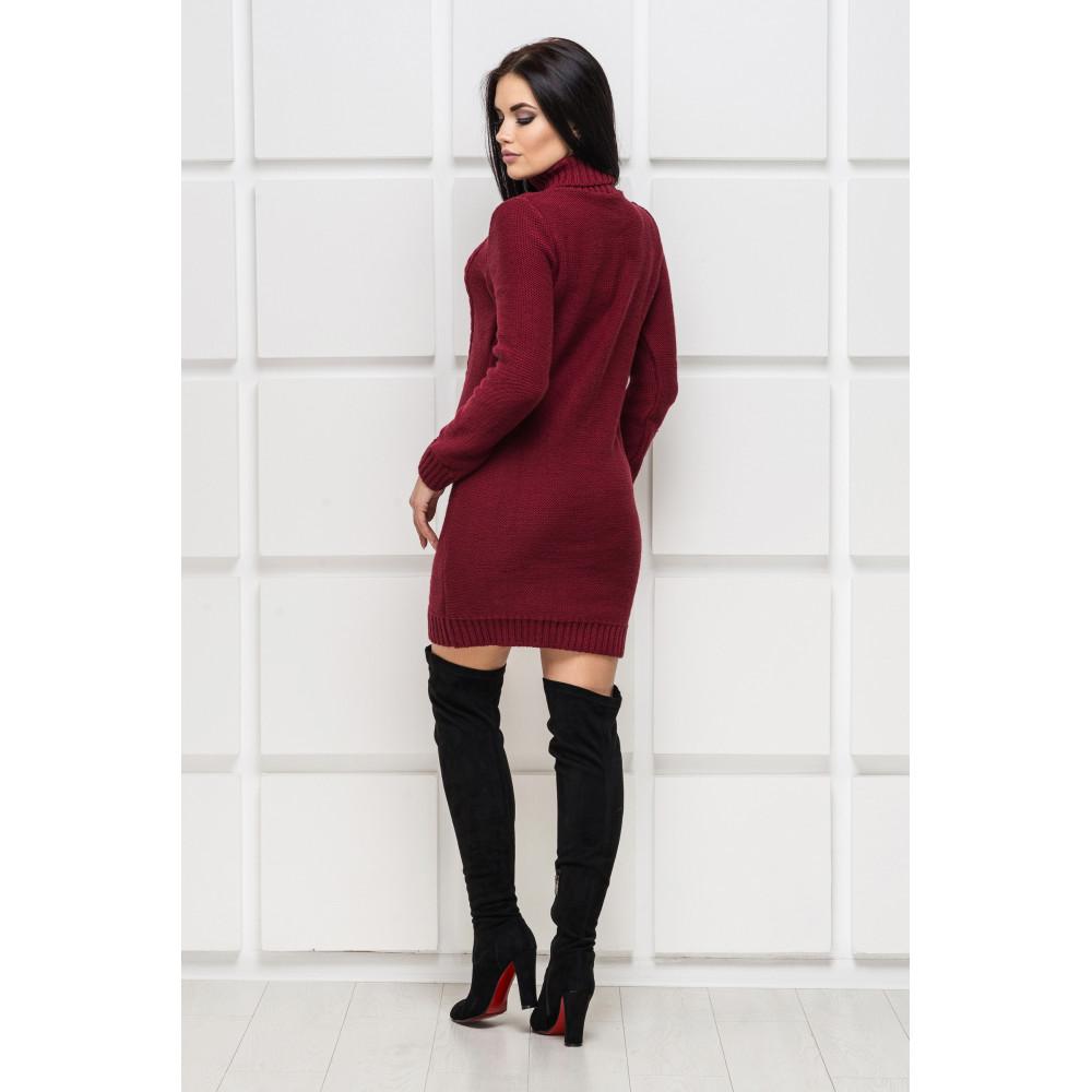 Бордовое вязаное платье Aleksa фото 2