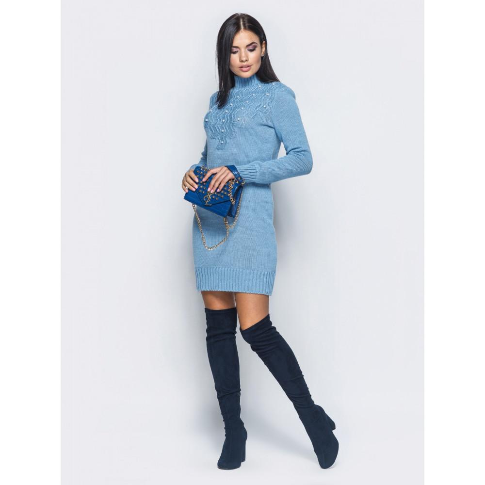 Небесное вязаное платье Yana  фото 1