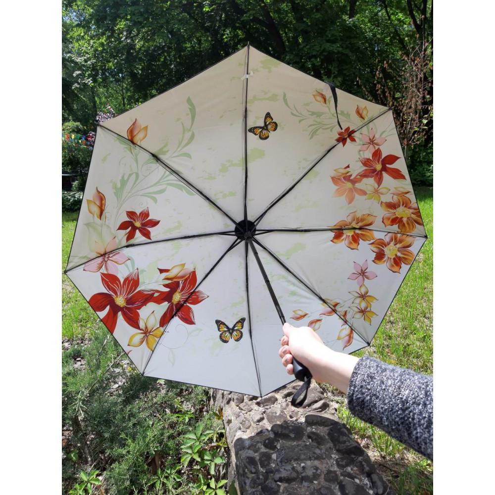 Милый зонт с цветочным рисунком фото 1