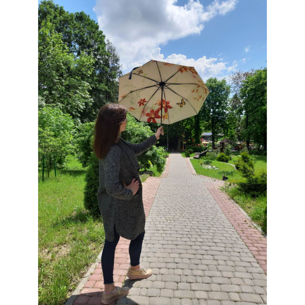 Милый зонт с цветочным рисунком фото 2