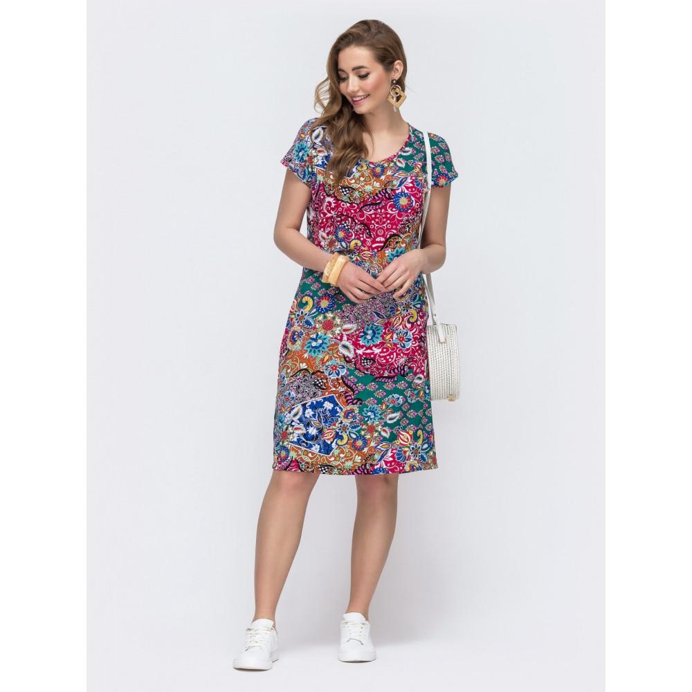 Красочное платье из штапеля Персия фото 1