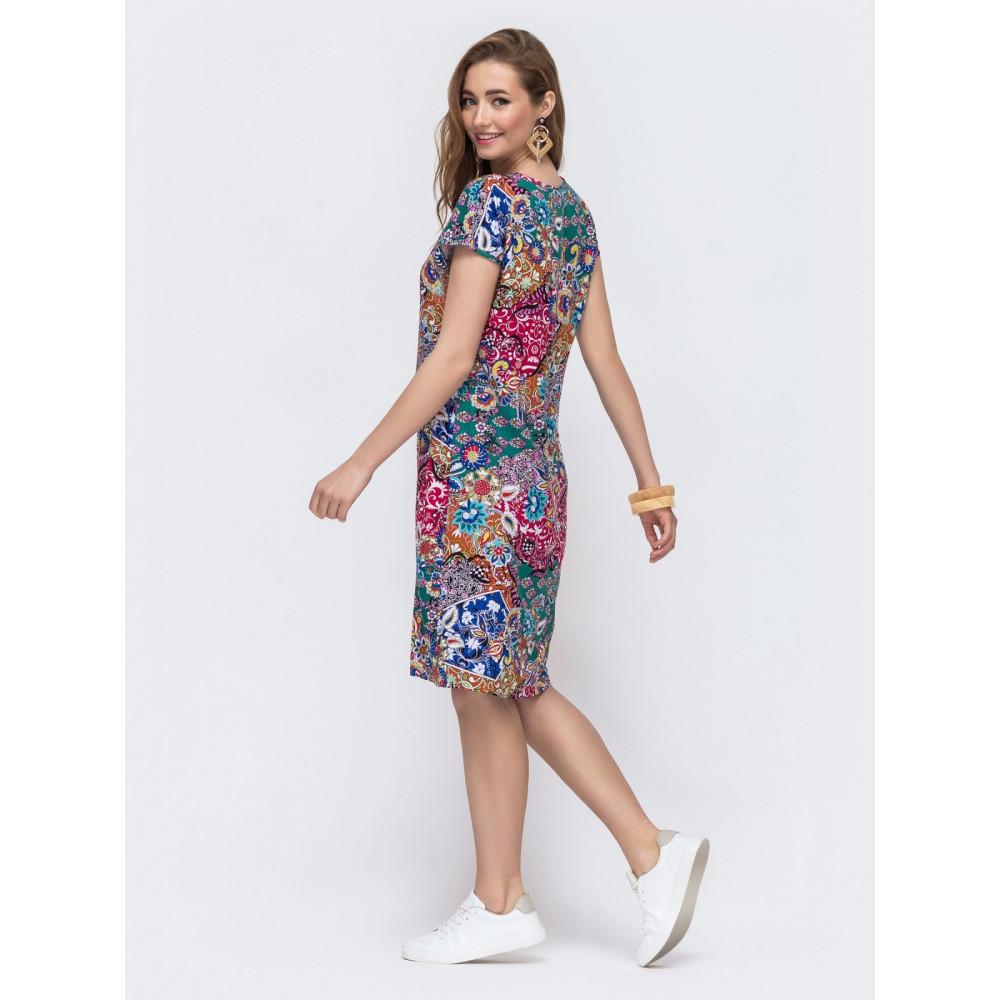 Красочное платье из штапеля Персия фото 2