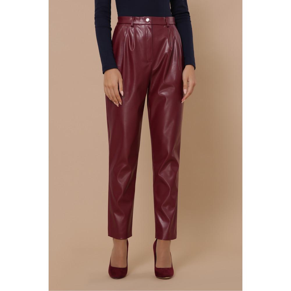 Бордовые брюки Бакси фото 2