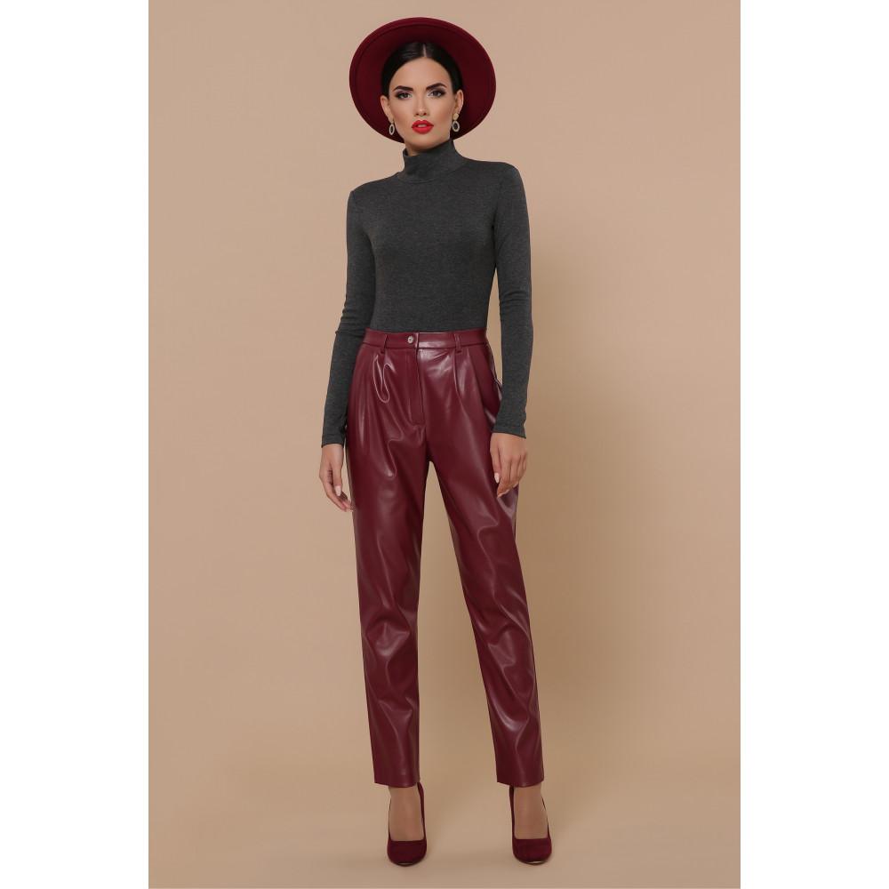 Бордовые брюки Бакси фото 4