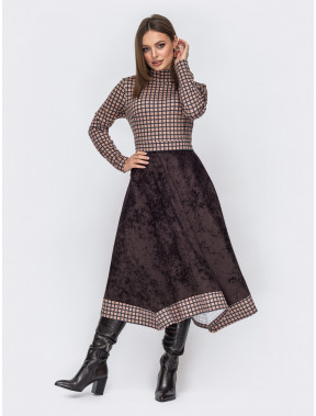 Стильное комбинированное платье Доминика