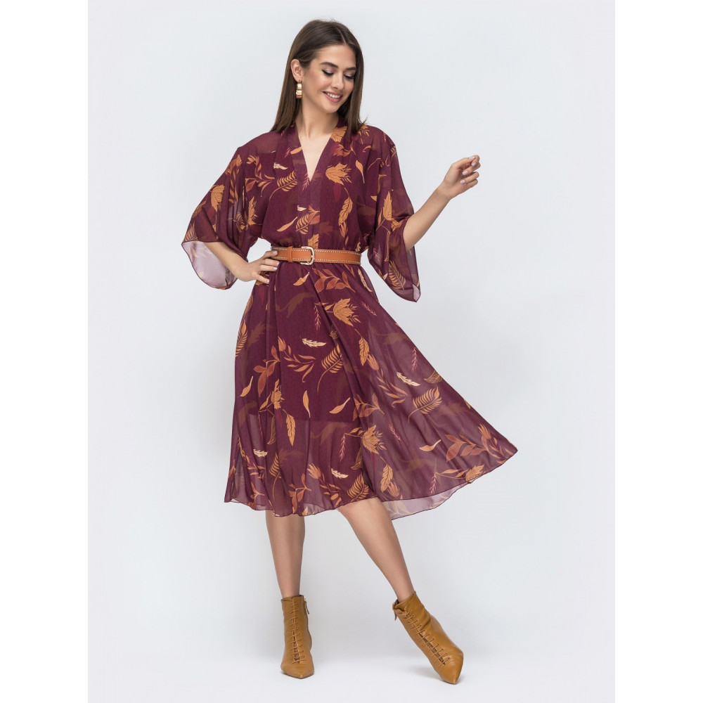 Интересное платье с V-образным вырезом Жюли фото 1