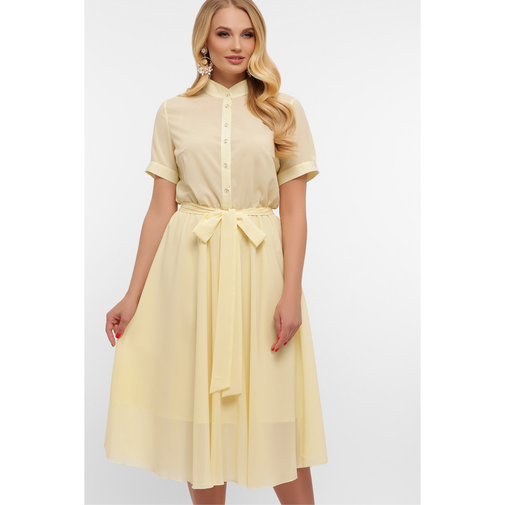 Воздушное желтое платье Изольда фото 1