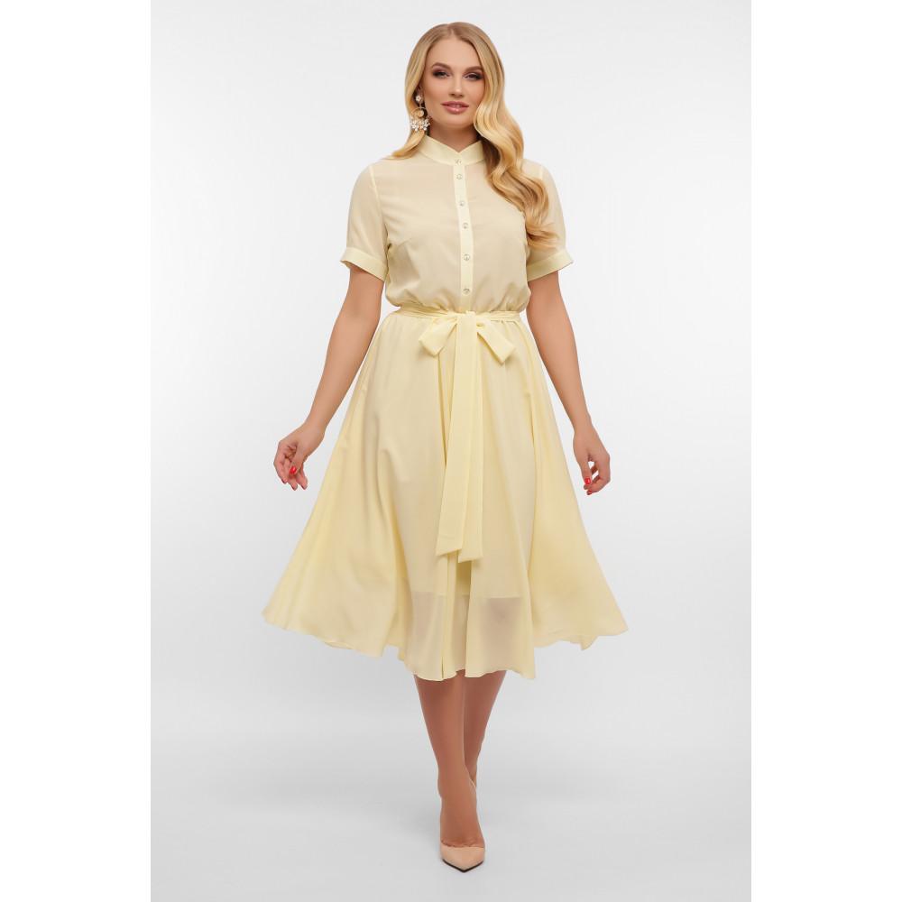 Воздушное желтое платье Изольда фото 2