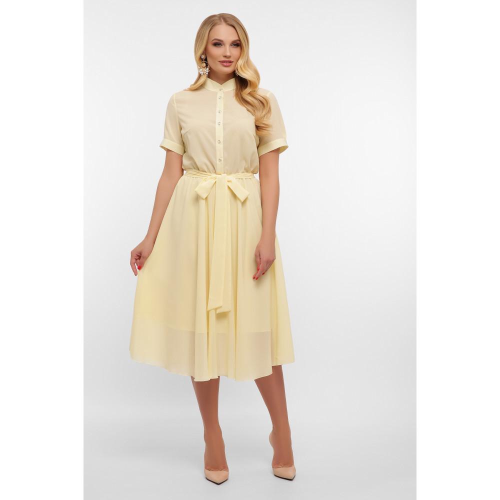 Воздушное желтое платье Изольда фото 3