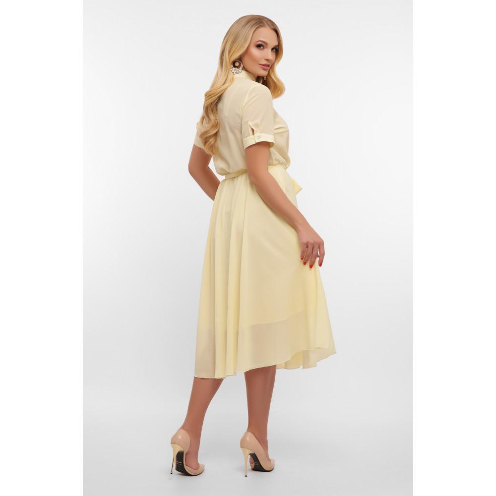 Воздушное желтое платье Изольда фото 4