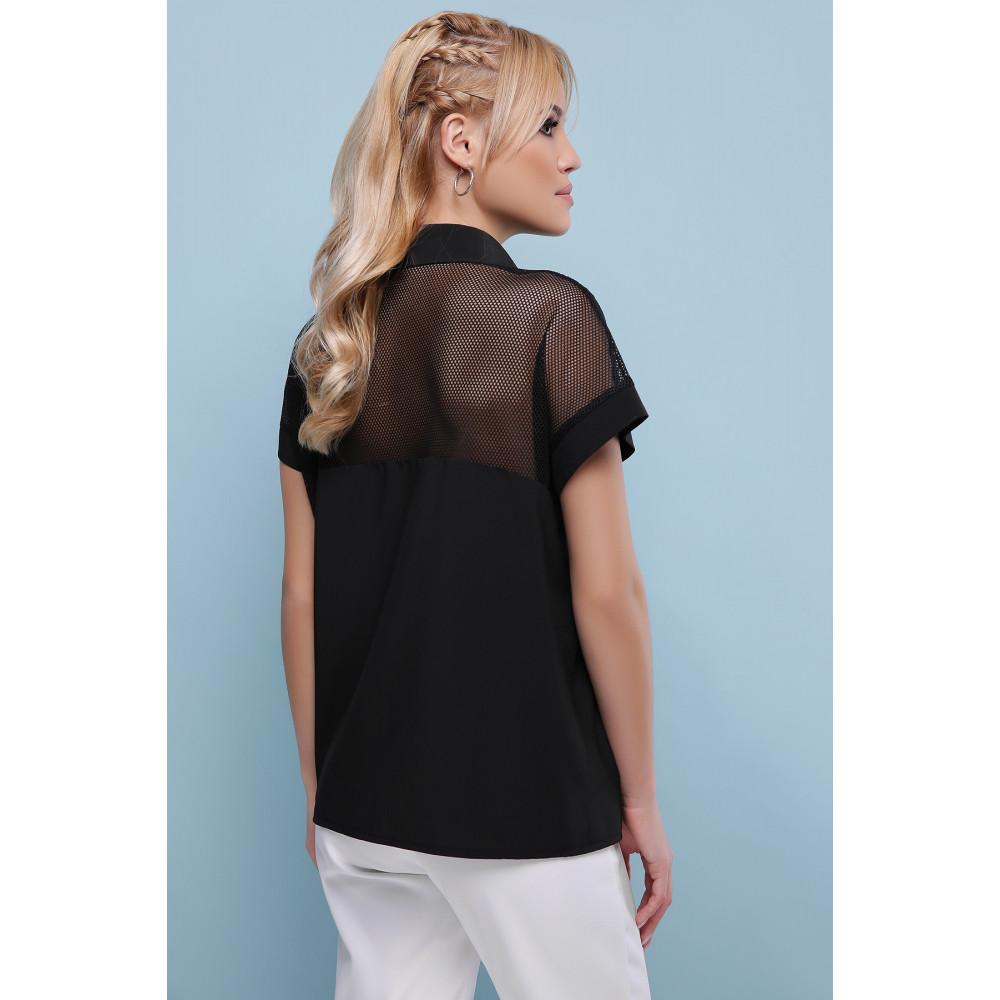 Интересная черная блузка Сафо фото 2