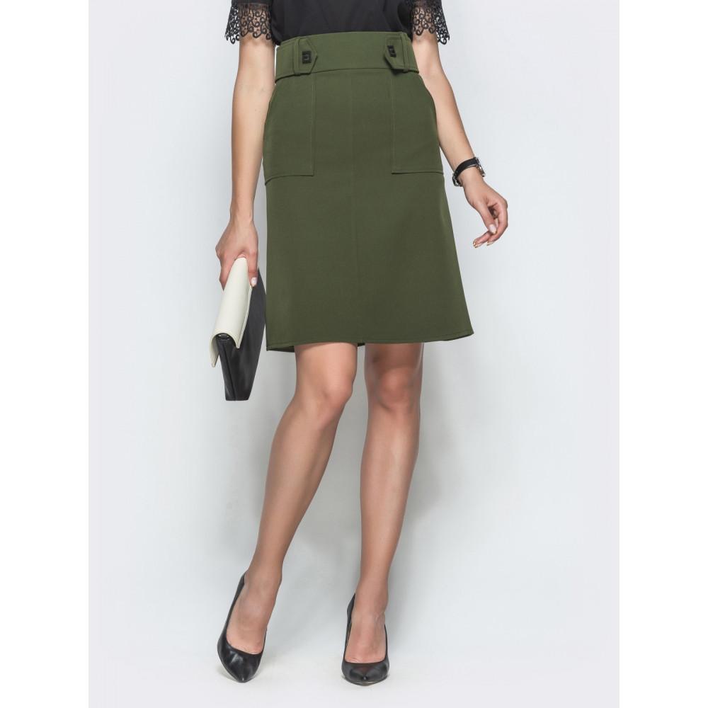 Красивая юбка цвета хаки фото 1