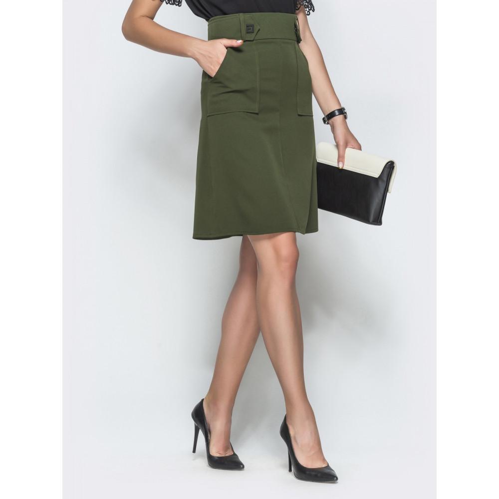 Красивая юбка цвета хаки фото 2