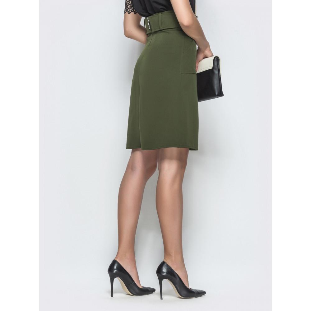 Красивая юбка цвета хаки фото 3