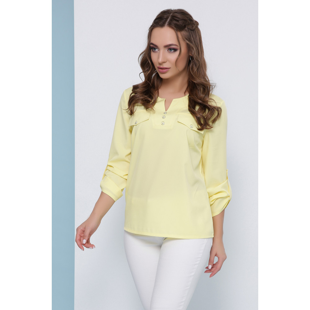 Блузка лимонного цвета фото 1