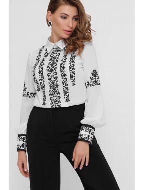 Ошатна біла блуза в стилі етно Міка