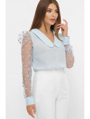 Блакитна блуза в стилі ретро Сесіль