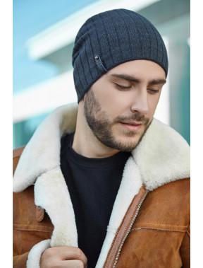 Мужская шапка серого цвета Реал