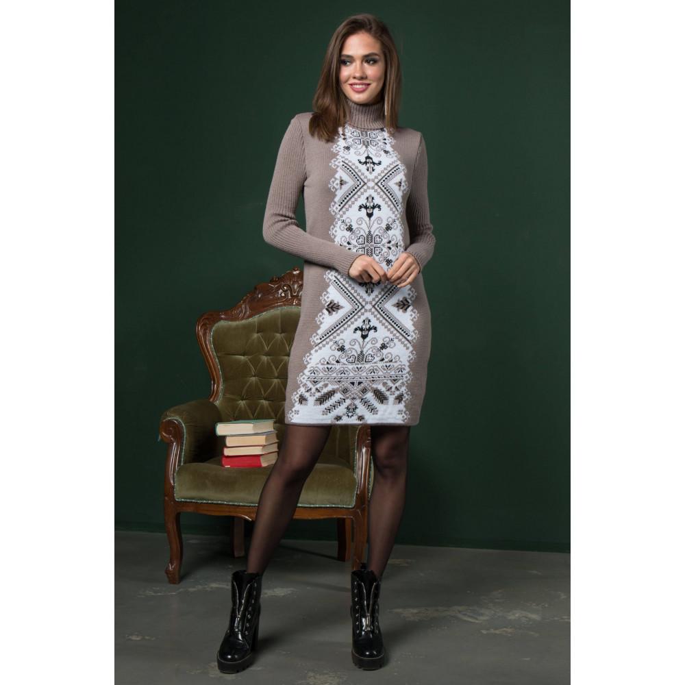 Бежевое платье в этно-стиле Ольга фото 1