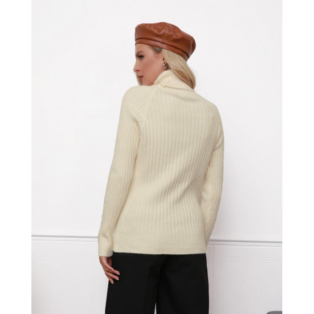 Бежевый милый вязаный свитер Алсу фото 3