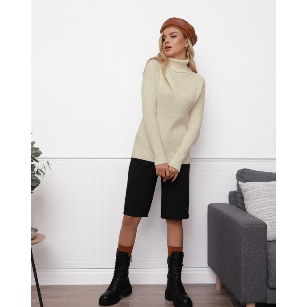 Бежевый милый вязаный свитер Алсу фото 1