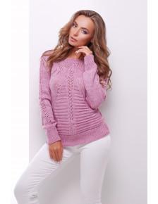 Ажурний бузковий светр