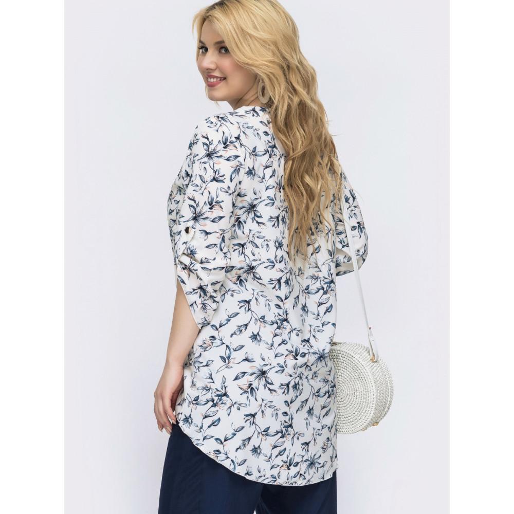 Красивая блузка с удлиненной спинкой фото 2
