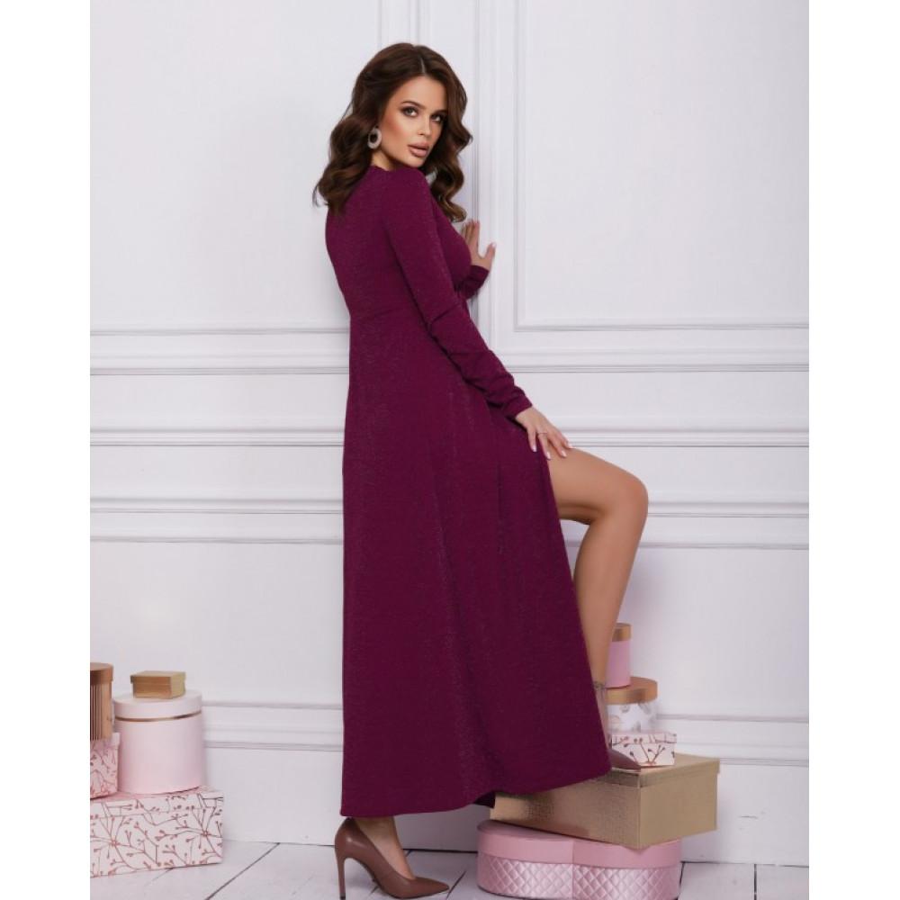 Вечернее платье-макси с люрексом фото 2