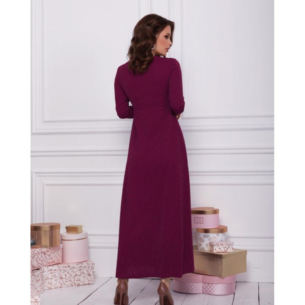 Вечернее платье-макси с люрексом фото 3