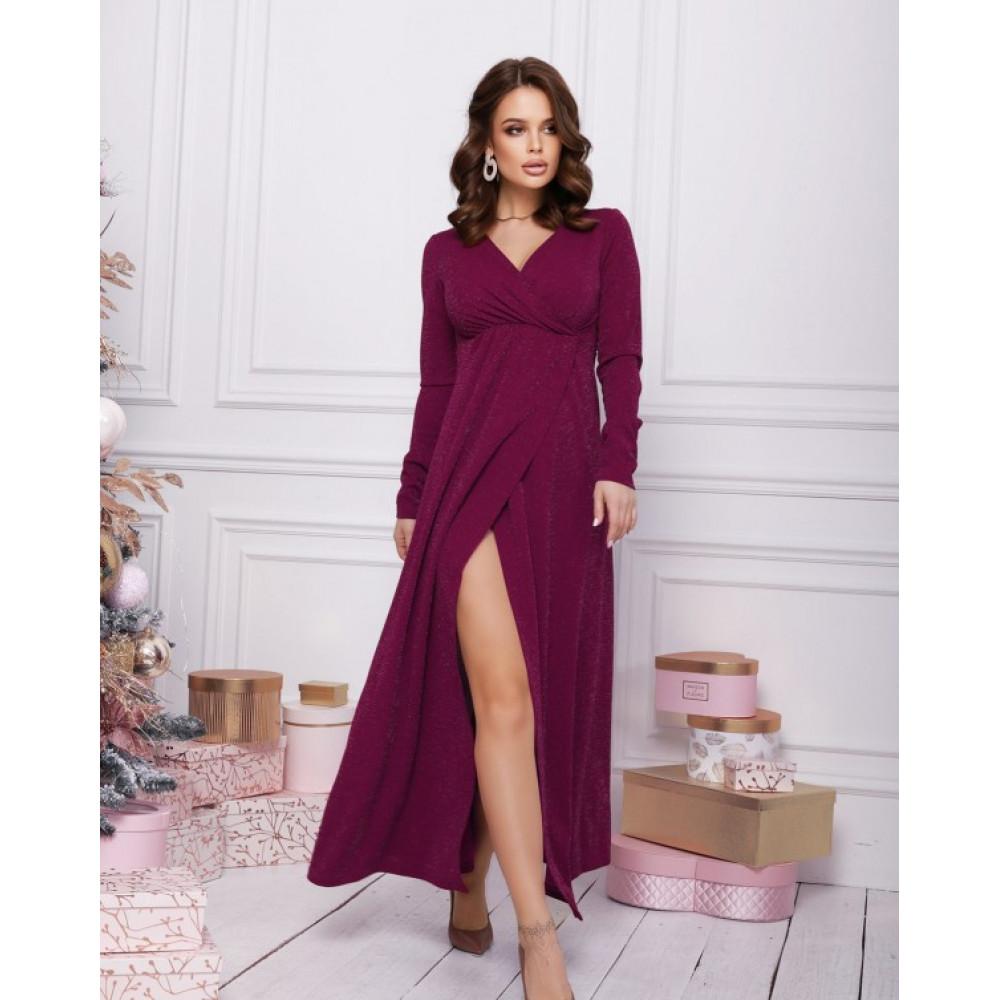 Вечернее платье-макси с люрексом фото 1