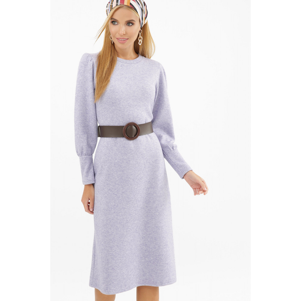 Лавандовое теплое платье Жизель фото 1